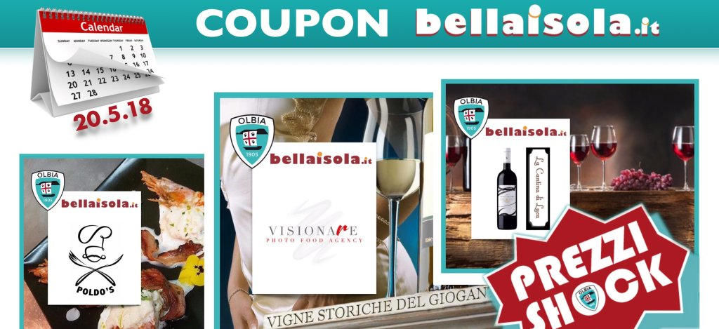 COUPON BELLAISOLA (VALIDI SINO AL 20.5.18)